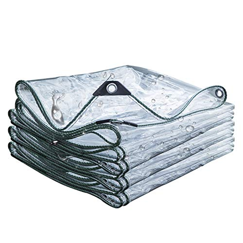 Lonas Transparente Impermeable 0.35 mm,Toldos de Plantas Tela Cubiertas PVC Plástico Exterior Jardín Toldo Aislamiento Térmico,Gazebo Cubierta Protectora,Prueba de Lluvia Polvo,430g/m²(2x3m/6.6x9.8ft)