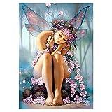vosarea diamante pintura bricolaje belleza Elf de punto de cruz diamante bordado Artesanía de arte