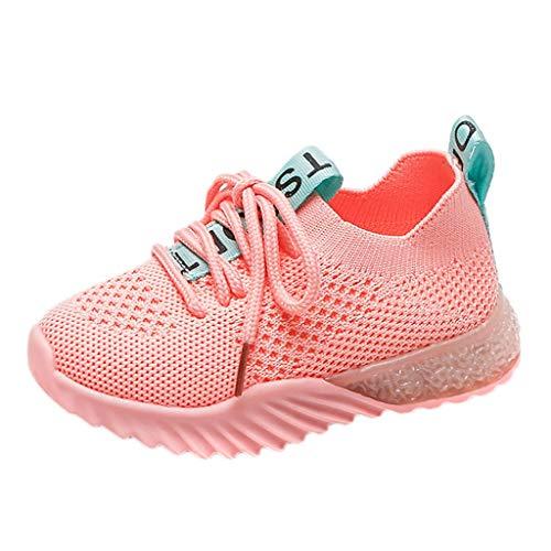 WEXCV Unisex Baby Jungen Mädchen Einfarbig Leuchtende Schuhe für Kinder Leucht Lauflernschuhe Weben Mesh Freizeitschuhe Krabbelschuhe Outdoor Licht Sportschuhe Sneaker 22.5-58