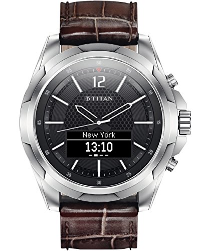 HP Titan Stainless Steel with Brown Strap - Mens Smartwatch