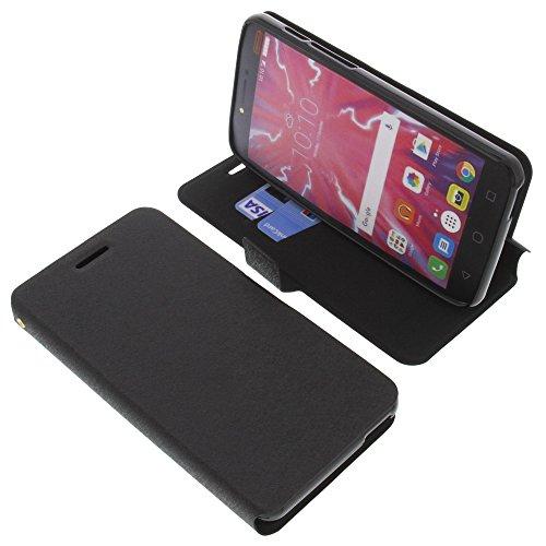 foto-kontor Tasche für Alcatel Pixi 4 Plus Power Book Style schwarz Schutz Hülle Buch