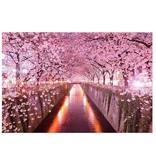 Lomoko Hermosos Carteles de Japón Rosa Sakura Pintura Lienzo Arte de la Pared impresión en Lienzo imágenes para la decoración de la Sala de Estar decoración del hogar 50x70 cm sin Marco