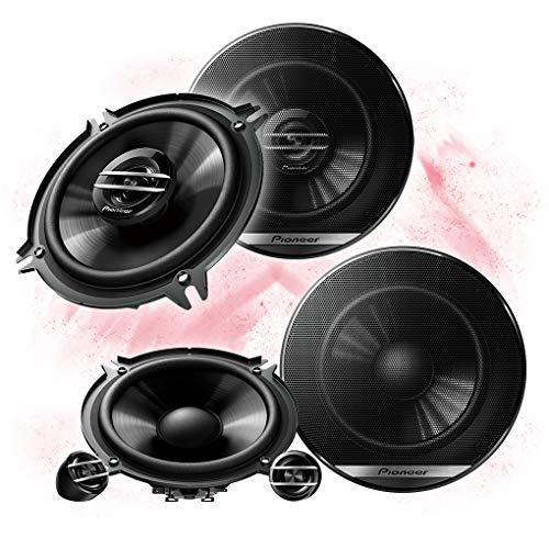 Pioneer Front/Heck 13cm/130mm Auto Lautsprecher/Boxen/Speaker Komplett-Set kompatibel für BMW