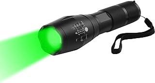 Groen Licht Torch, WESLITE Tactische Zaklamp Groen Jacht Licht 250 Yards LED Torch Groen Licht 1 Mode Zoomable & Waterdich...