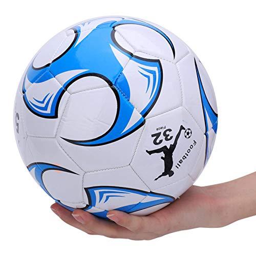 Balón de fútbol de cuero 2.7 grueso resistente al desgaste aplicable pelota de fútbol de entrenamiento estable para el tiro y el paso del fútbol