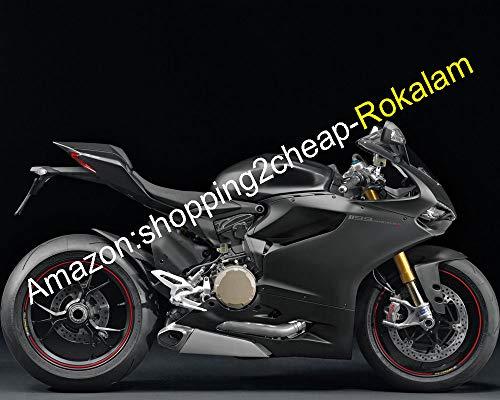Carrosserie ABS pour Ducati 1199‿1199S 2012 2013 2014 2015 2016 899 12 13 14 15 16 Kit de carénage pour moto de rechange (Noir) (moulage par injection)