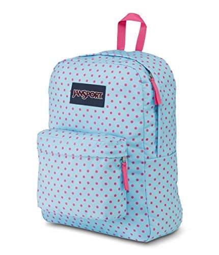 JANSPORT Superbreak Backpack Blue Topaz Lipstick Kiss Schoolbag JS00T5013B4 JANSPORT Bags