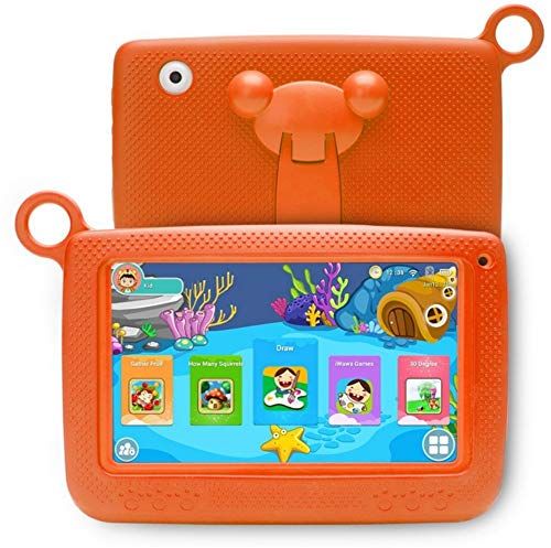 WANGOFUN Kids Tablets PC, 7 Inch Android Kids Tablet with Safety Eye Protection Screen Parent Control Educational Tablet, Best Gift for Children,Orange,1G+8G
