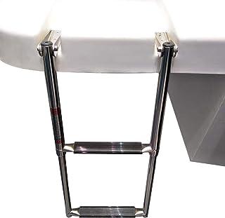Prairie Metal 2 Step Telescoping Boat Ladder Stainless Steel Swim Marine Dock Ladder