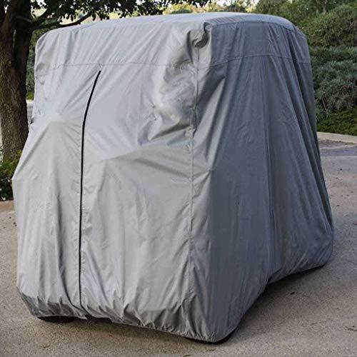 SHUI Cubierta para Buggy Carrito De Golf Impermeable para Carrito De Golf Se Adapta A EZGO, Club Car Y Yamaha, con Revestimiento Adicional De PVC Resistente Al Polvo-S: 245 * 122 * 168cm-gris