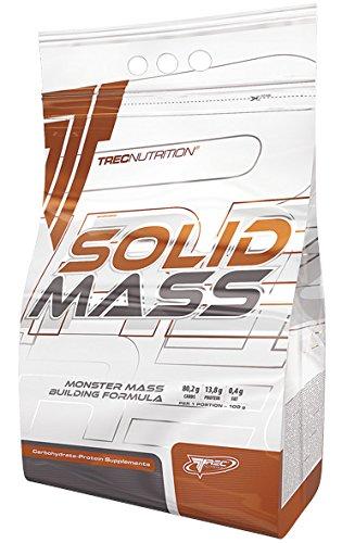 Trec Nutrition Solid Mass Gainer, carboidrati per la massa muscolare, per il bodybuilding (1000 g di fragola)