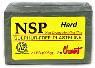 Chavant NSP HARD - 2 Lbs. Professional Oil Based Sulfur Free Sculpting Clay - GREEN