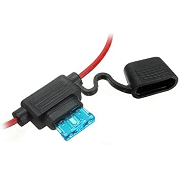 Waterproof car fuse holder 5/10/15/20/30A Amp In Line Blade Fuse Holder with 10 pcs fuse