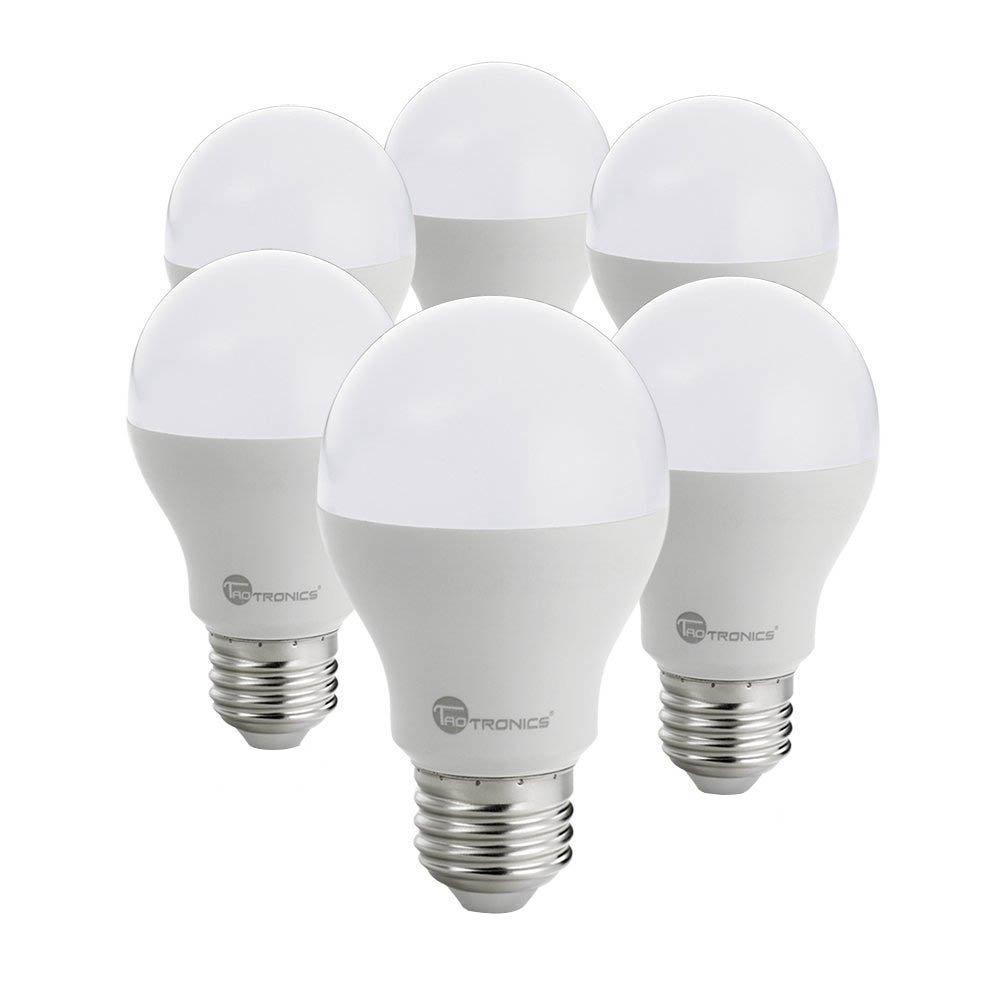 TaoTronics Bombillas LED E27 9W [Pack de 6] Blanco Cálido 3000K LED Light Bulbs, BAJO CONSUMO, Equivalente a 60W, Larga duración, sin deslumbramiento: Amazon.es: Iluminación
