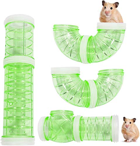 zfdg Túnel de Hámster, Juguete Túnel Hámster, Hámster Tubo, Hámster Tubo Túnel, Tubo Túnel Animales Pequeños, para Hamster Cage Small Pet Pipe Connection Sports Tunnel Toy (Verde)