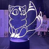 Inuyasha Kir - Lámpara de ilusión 3D para decoración de dormitorio, diseño de anime