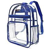 MODARANI 透明リュック シースルー リュックサック 透明 バッグパック かわいい 通勤通学 防水 大容量 男女兼用