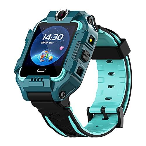 shjjyp Smartwatch NiñOs con GPS Y Llamadas Lbs Rastreador PodóMetro Impermeable CáMara Sos Pantalla TáCtil HD ConversacióN Bidireccional Reloj Inteligente para NiñOs Regalo para NiñOs NiñA,Verde