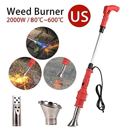 mildily Elektrischer Unkrautbrenner, 2000 W Elektro-Rasenmäher Weeder Elektrowerkzeug Red Dragon Weed Torch Mit Abnehmbarem Griff