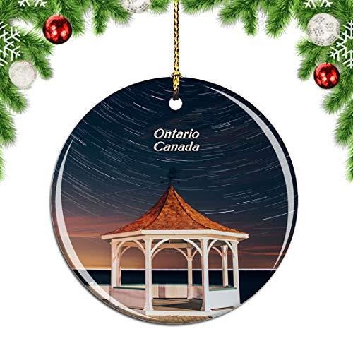 albero di natale ontario Weekino Canada Lago Ontario Decorazione Natalizia Albero di Natale Ornamento Pendente sospeso Città Viaggi Souvenir Collection Porcellana da 2