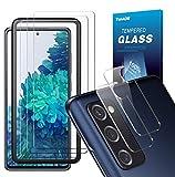 TOPACE Panzerglas kompatibel mit Samsung Galaxy S20 FE Panzerglas(3)+Kamera Panzerglas(2), Display und Kamera schützen, 9H Härte Panzerglas Schutzfolie, HD Klar Glas Displayschutzfolie