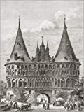Poster 70 x 90 cm: Das Holstentor, Lübeck von Ken