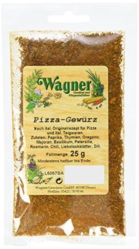 Wagner Gewürze Pizza Gewürzzubereitung, 4er Pack (4 x 25 g)