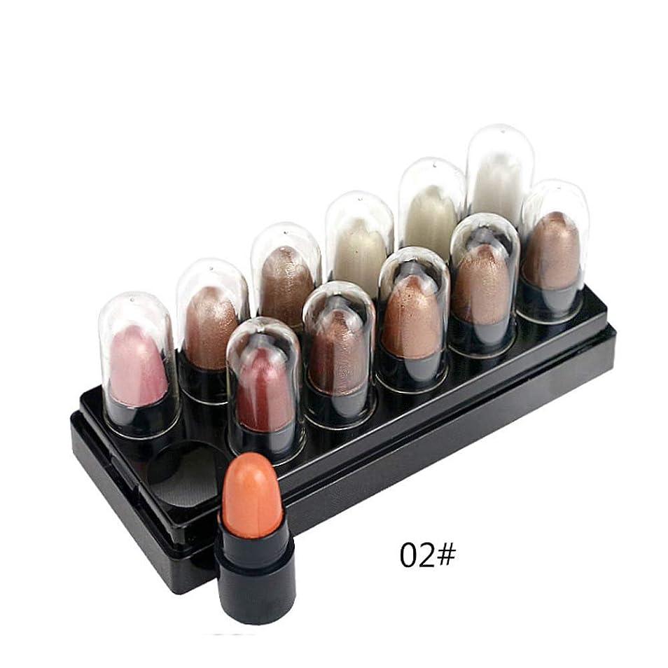 拍手定義する与える12色化粧アイシャドウシマーマットスティックセット防水プルーフ化粧品B