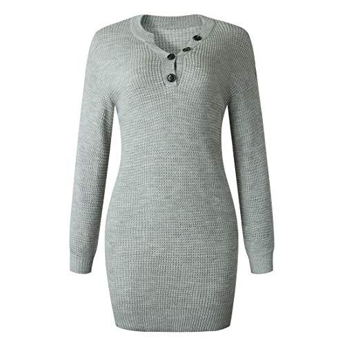 Sweater Damen Lange Winter Mode Lässig Locker Bequem Langärmelig Herbst Elegant...