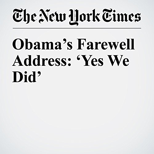 Obama's Farewell Address: 'Yes We Did' audiobook cover art