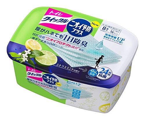 トイレクイックル トイレ用そうじシート ニオイ予防プラス シトラスの香り 本体 8枚入