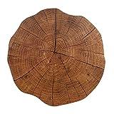 DAIHUI Round wooden decorative placemat Non-Slip Table Mat Coaster Kitchen Decoration Accessories
