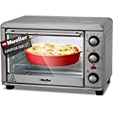 Mueller AeroHeat Convection Toaster Oven 1200W, Broil, Toast, Bake, 4 Slice, Stainless Steel Finish, Timer, Auto-Off, Sound Alert, 3 Rack Position, Removable Crumb Tray, with Accessories and Recipes (Renewed)