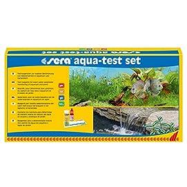 sera aqua-test set, Test Set fürs Aquarium & den Teich mit den 4 wichtigsten Wassertest pH, GH, KH, NO2