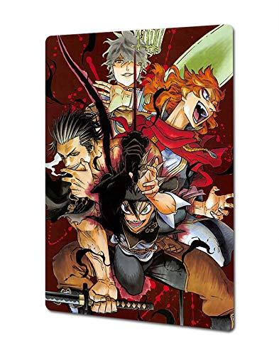 Japan Anime Manga Poster - Black Clover Poster - Anime Poster Metal Wall Decoration 12' x 8'