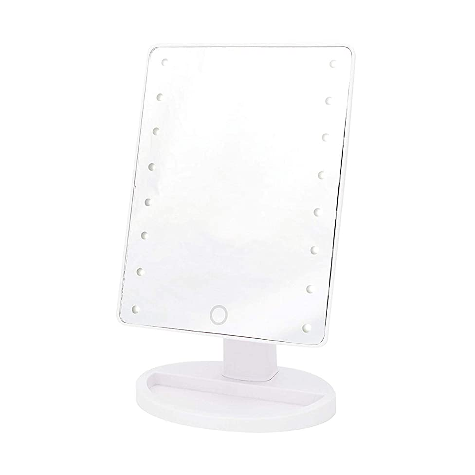 DANIELLE LED Hollywood Mirror Trifold Oversized -  12 x 18.5 x 14.5 inch, White