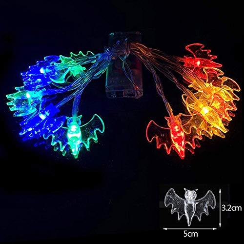 10LED calabaza araña cadena luces lámpara DIY Colgando del horror Decoración for el suministro índice de la lámpara de Toty regalo-4 SEAno1 (Color : 6)
