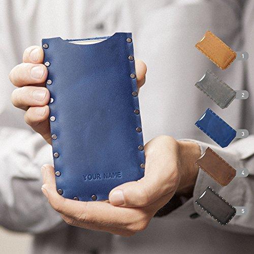 Leder Hülle für Lenovo z2 plus a7700 a6600 p2 a k6 note power vibe c2 zuk c z1 k5 p1 turbo Cover Etui Tasche Case geprägt mit Ihrem Namen, personalisiertes Geschenk