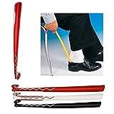 61cm langer Schuhlöffel, weiß-rotes Muster, langer Griff. Originalverpackung