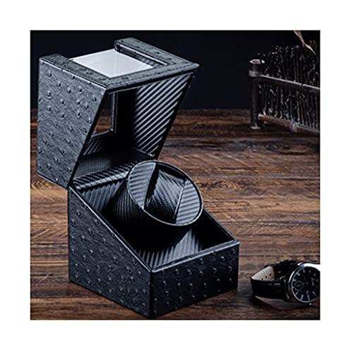 QIFFIY Caja de joyería Caja de Reloj Longitud de 12 cm y Alta 16 cm, Reloj mecánico Caja de Almacenamiento de Cuero con Cubierta Transparente, Recargable (tamaño : 1 epitope)