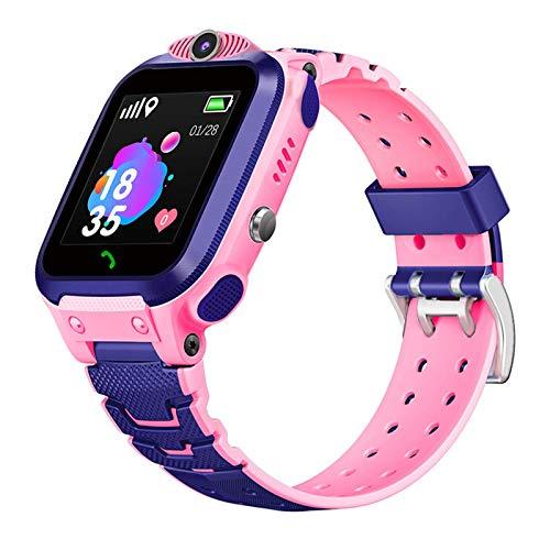 Gymqian Tr5-1 2G Smart Watch-Kinder Mit Micro-Sim-Kartensteckplatz-Berührungsbildschirm Anti-Lost-Armbanduhr Mit Gps Smart Watch-Kinder-Geschenk, Einfach Zu Bedienen Mode/Rosa