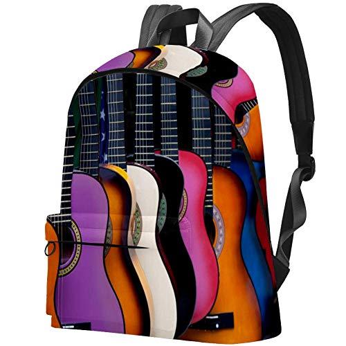 Mexikanische Gitarren Bag Teens Student Bookbag Leichte Umhängetaschen Reiserucksack Tägliche Rucksäcke