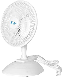 Simple Deluxe 6 Inch Clip on Desk Removable Pedestal and Fully Adjustable Tilt Personal Table Fan for Home Office, 1 Pack, White