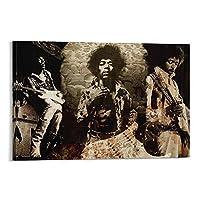 ジミヘンドリックスリビングルーム用ポスター家の装飾キャンバスウォールアートプリントポスターモダンフレスコフレーム08×12インチ(20×30cm)