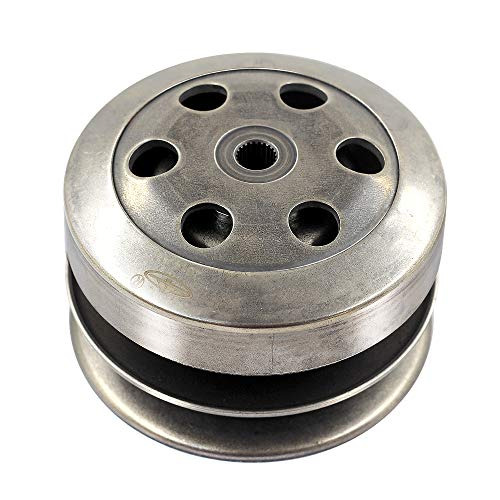 Trkimal Driven Pulley Rear Clutch for GY6 49cc 50cc 80cc 139QMB engine, Complete GY6 Clutch Compatible Scooter Moped ATV Go Kart Taotao Roketa Sunl