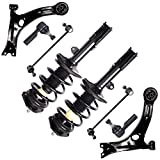 Pontiac Vibe Ball Joints & Components - Spring Strut Assembly,OCPTY Complete Struts Shocks Control Arm and Ball Joint Assembly Stabilizer Bar Link Tie Rod End Fits for 2003-2008 Pontiac Vibe 2003-2008 for Toyota Matrix 172117 172116