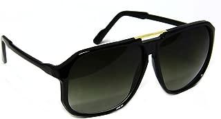 Retro Celebrity Style Flat Top Key Hole Aviator Sunglasses