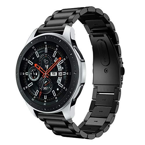 Ouneed Samsung Galaxy Watch 46mm Armband , 2018 Luxus Business Herren Edelstahl Armband Ersatzband for Samsung Galaxy Watch 46mm (Schwarz)