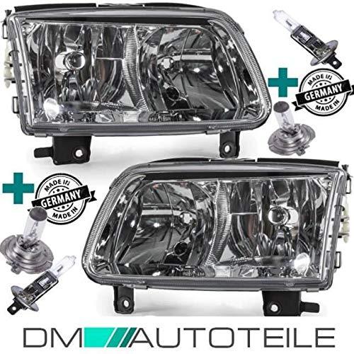 DM Autoteile Polo 6N2 99-01 Scheinwerfer H1/H7 Set Rechts Links incl.Leuchtmittel Paket
