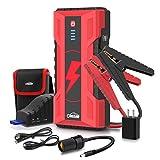 Oasser Booster Batterie Jump Starter 1000A 15000mAh Démarrage de Voiture Jusqu'à 7L Essence et 5L Diesel Alimentation Eléctrique d'Urgence pour Voiture avec Lamp LED J5